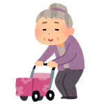 歩行中の高齢者