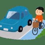 自転車専用道路を走る自転車